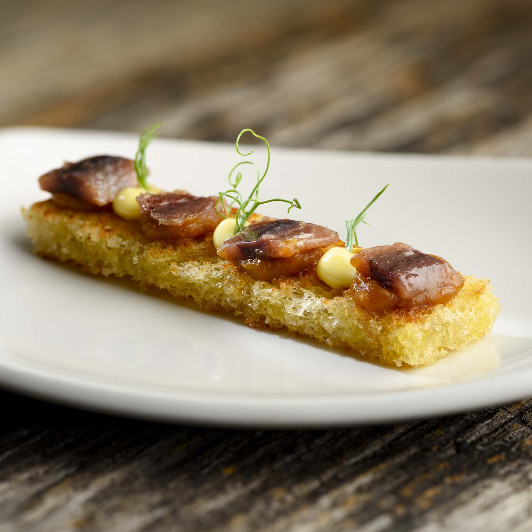 Miso toast with Basque Cantabrian Anchovies